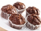 Рецепта Какаови мъфини с шоколад и кисело мляко